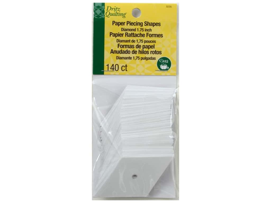 Dritz Paper Piecing Shapes - 1 3/4 in. 60 Degree Diamond 140 pc.