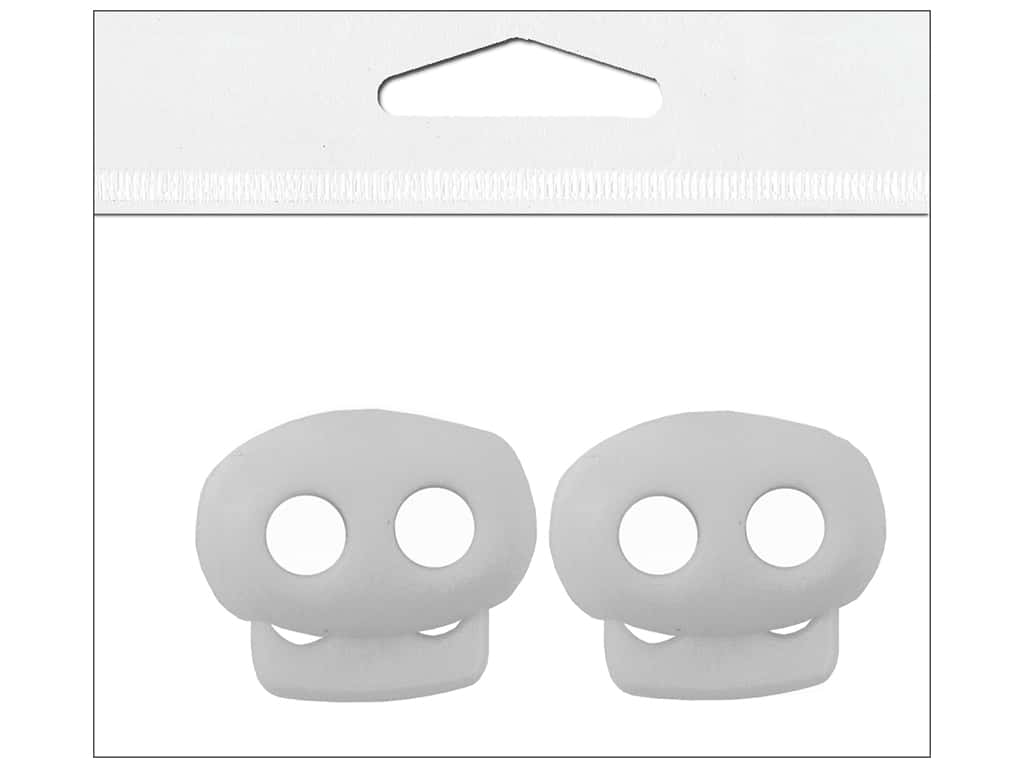 Petersen-Arne Mini Cord Locks 1/8 in. White 2 pc.