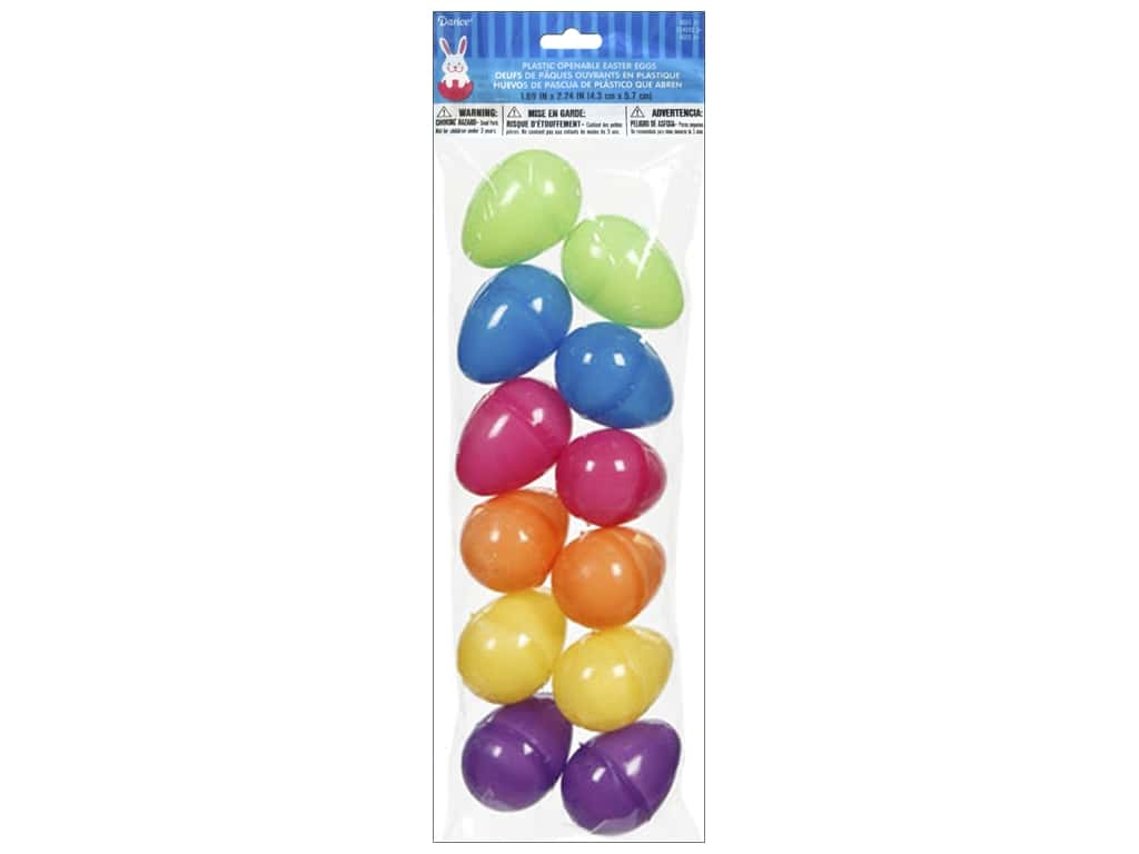 Darice Easter Eggs 2 1/4 in. 6 pc.