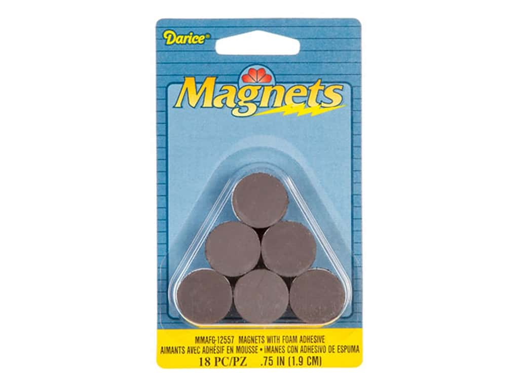 Darice Round Magnets with Foam Adhesive 3/4 in. 18 pc.