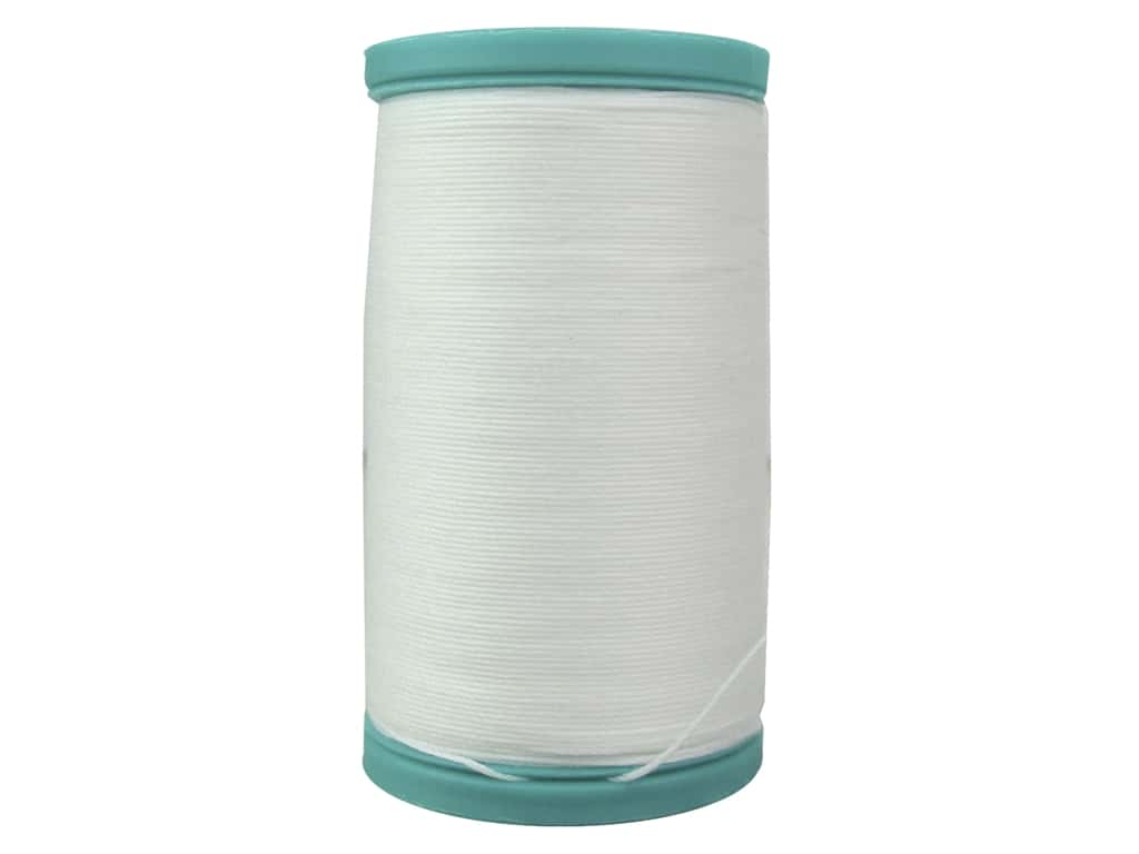 Coats Cotton Covered Bold Hand Quilting Thread 175 yd. #100 White