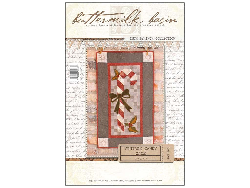 Buttermilk Basin Inch By Inch Vintage Candy Cane Pattern