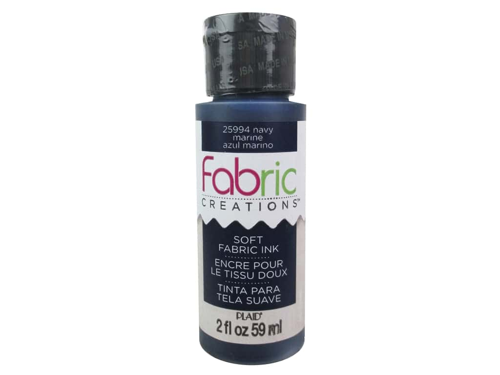 Plaid Fabric Creations Soft Fabric Ink 2 oz. Navy