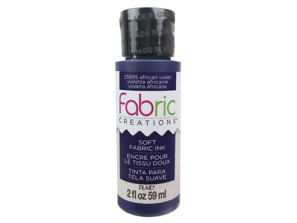 Plaid Fabric Creations Soft Fabric Ink - African Violet 2 oz.
