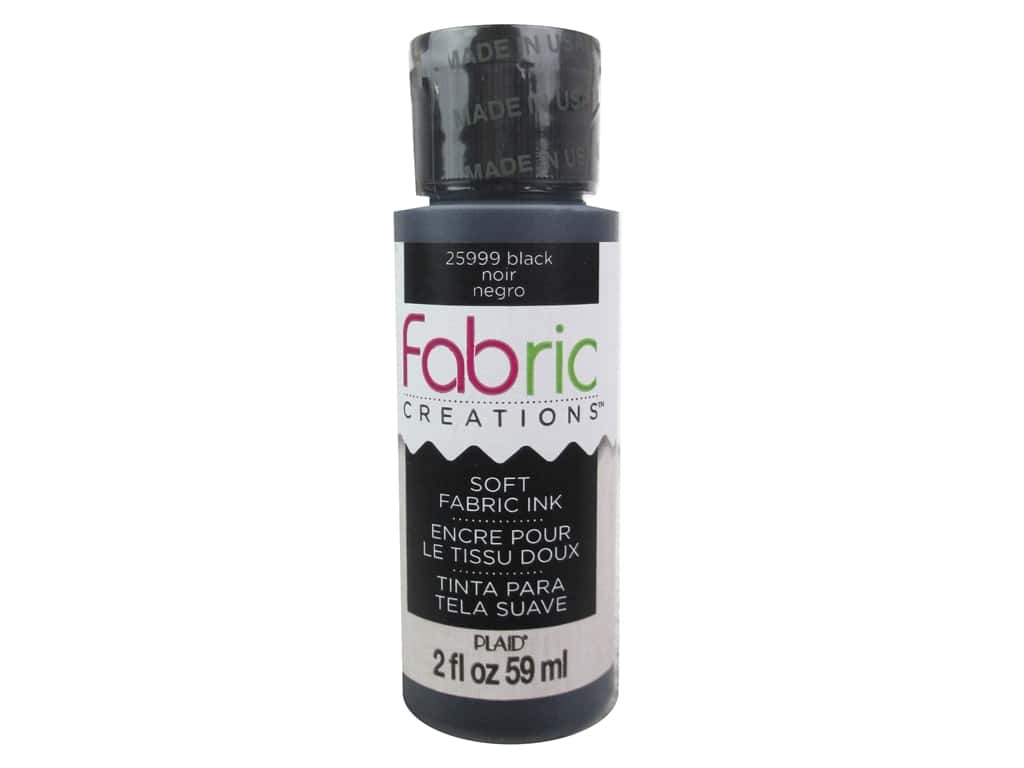 Plaid Fabric Creations Soft Fabric Ink 2 oz. Black