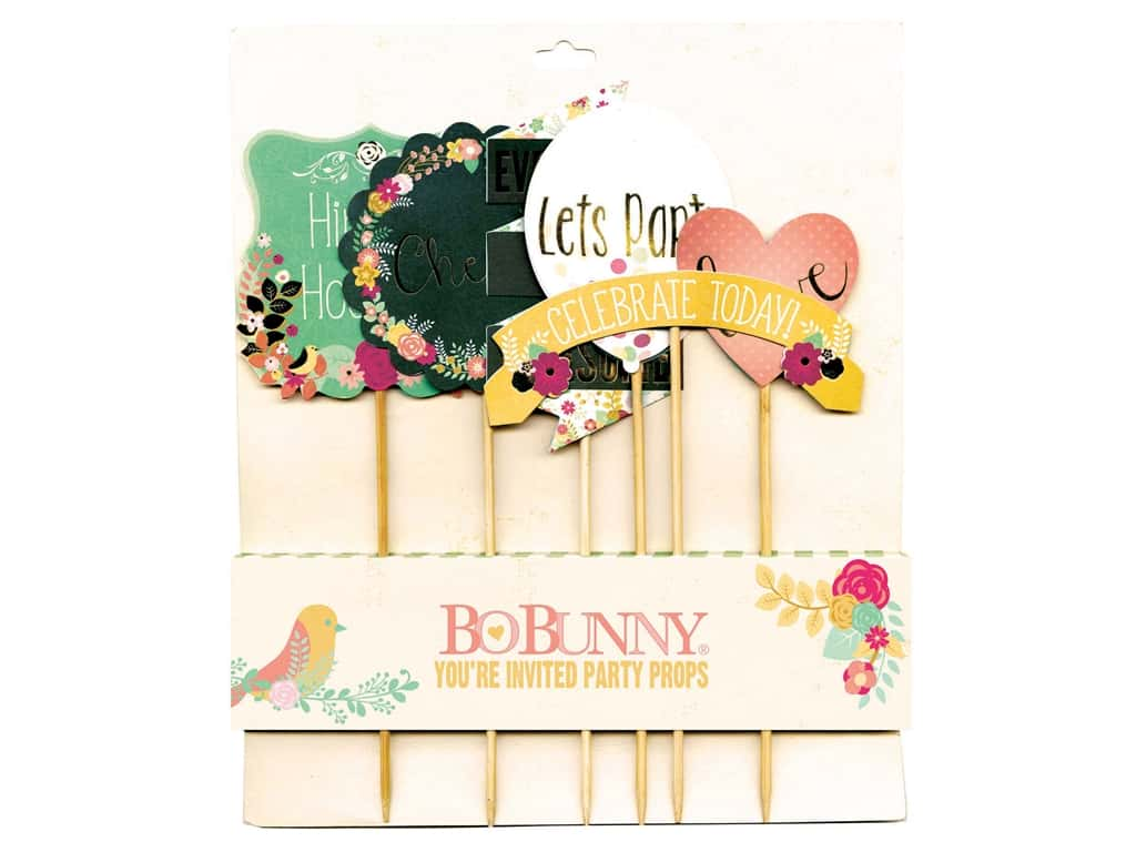 Bo Bunny Party Props 6 pc. You're Invited