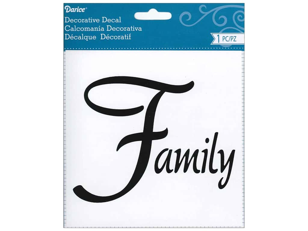 Darice Decorative Decal 5 1/2 x 4 1/4 Family
