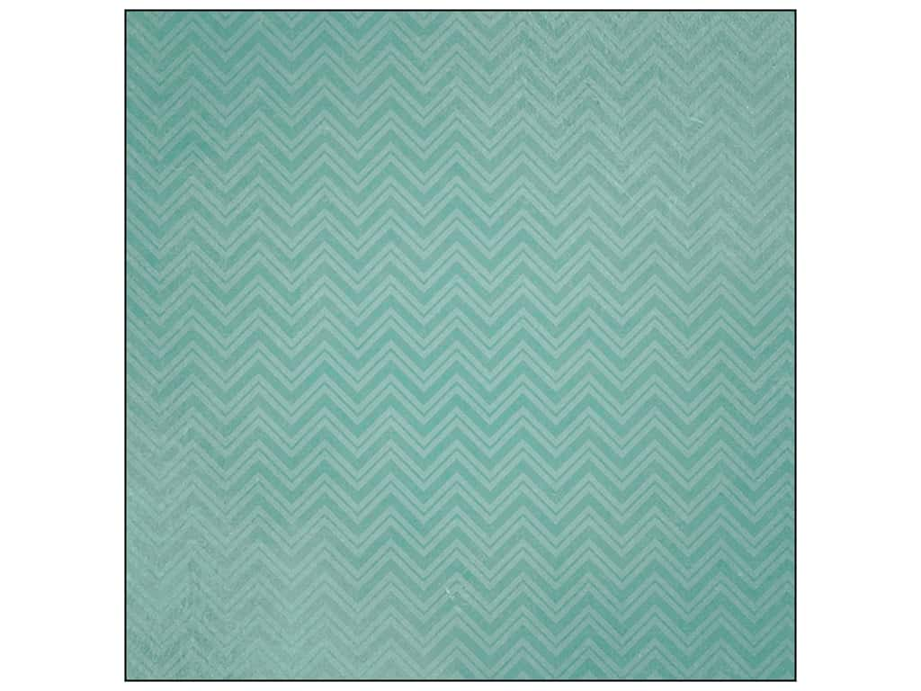 Paper House 12 x 12 in. Paper Family Vacation Teal Chevrons (25 sheets)