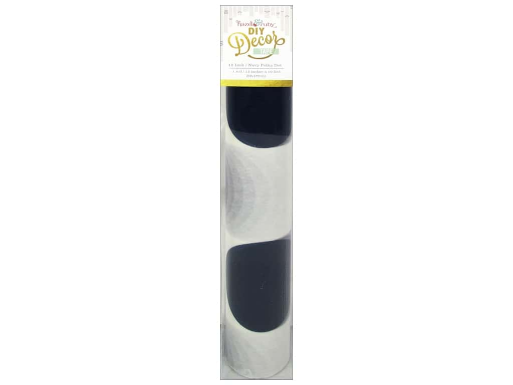 Hazel & Ruby DIY Decor Tape 12 in. Polka Dot Navy