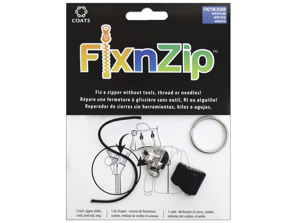 Coats Fix N Zip Replacement Zipper Slider Medium