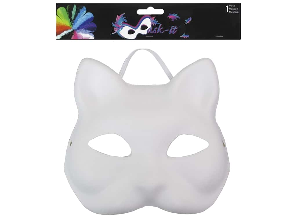 Midwest Design Mask Cat 7 in. White