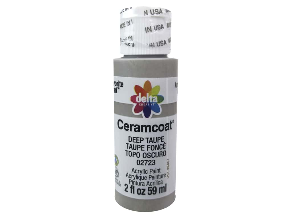 Delta Ceramcoat Acrylic Paint 2 oz. #2723 Deep Taupe