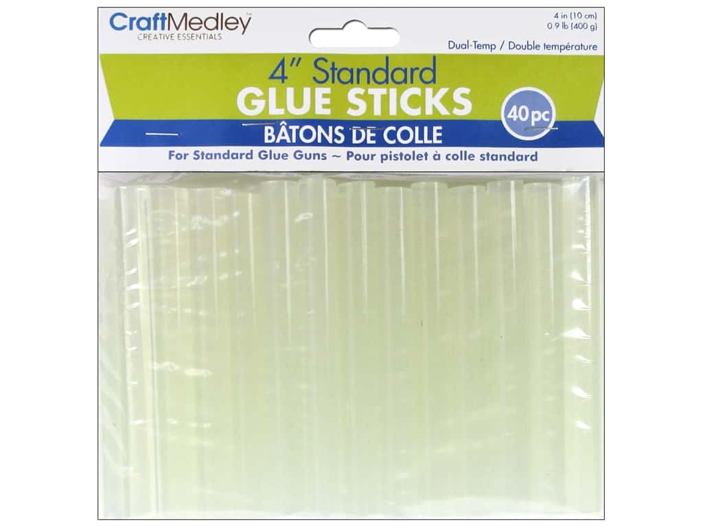 "Multicraft Adhesive Glue Stick Dual 4"" Standard 40pc"