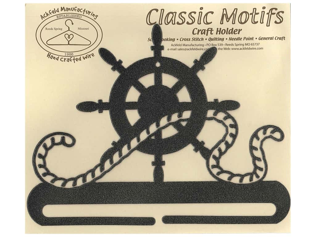 Ackfeld Craft Holder 8 in. Ships Wheel