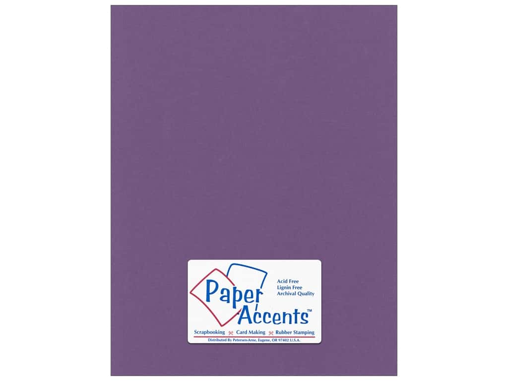 Paper Accents Cardstock 8 1/2 x 11 in. #56610 Canvas Plum 25 pc.