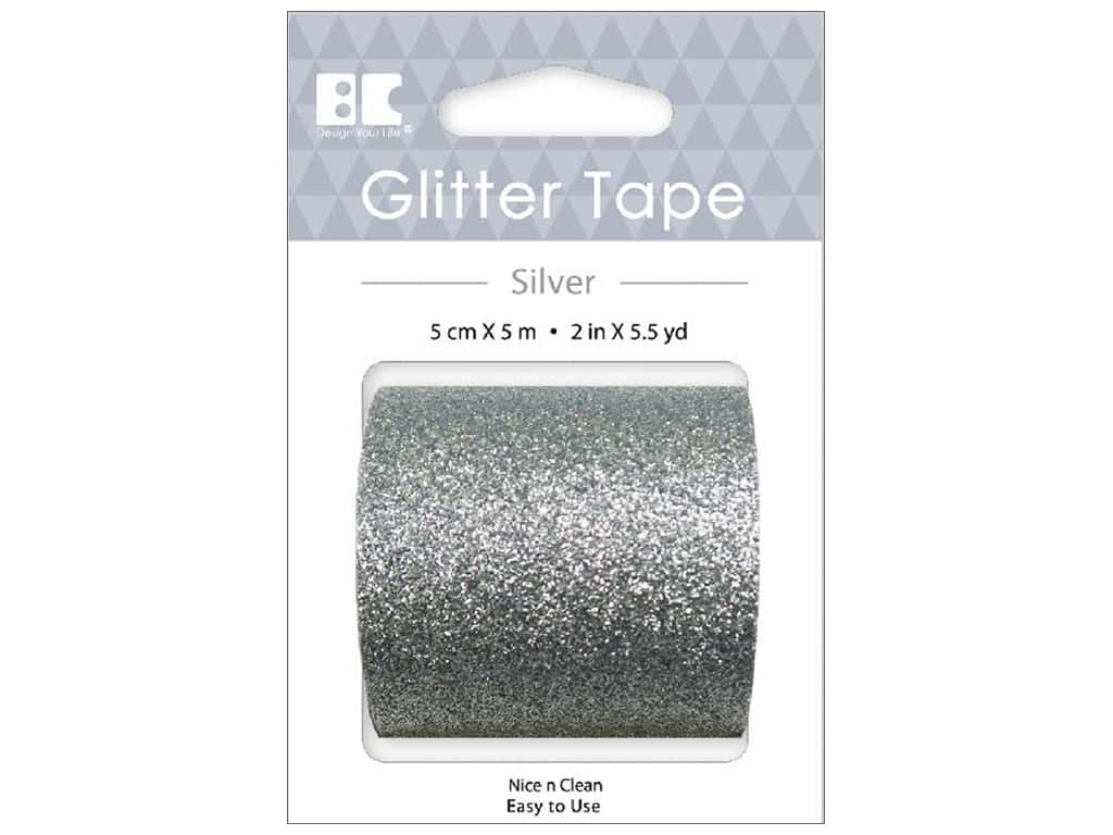 Best Creation Glitter Tape 2 in. x 5 1/2 yd. Silver
