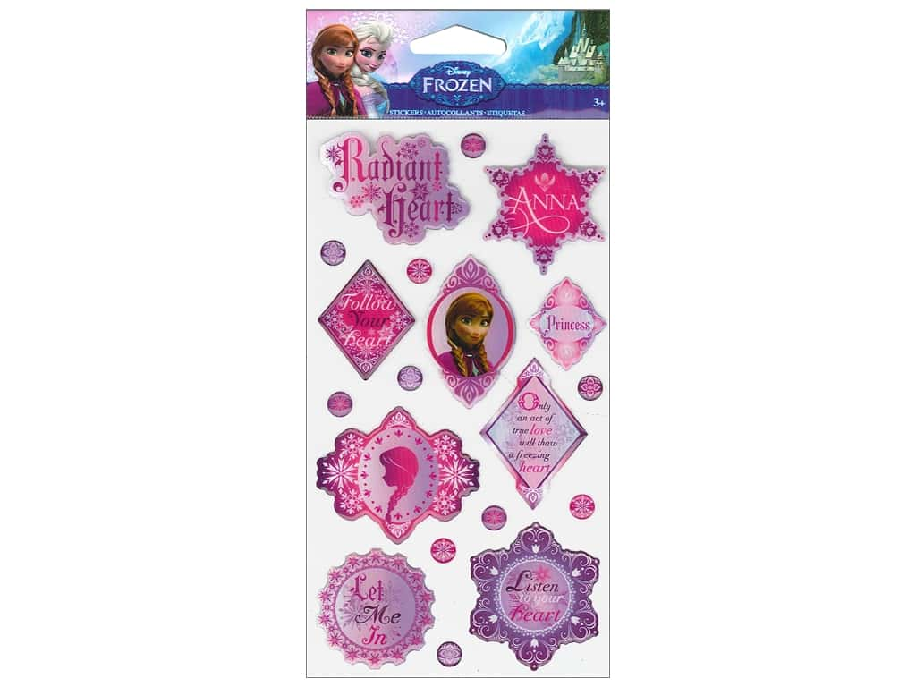 EK Disney Sticker Epoxy Phrases Anna