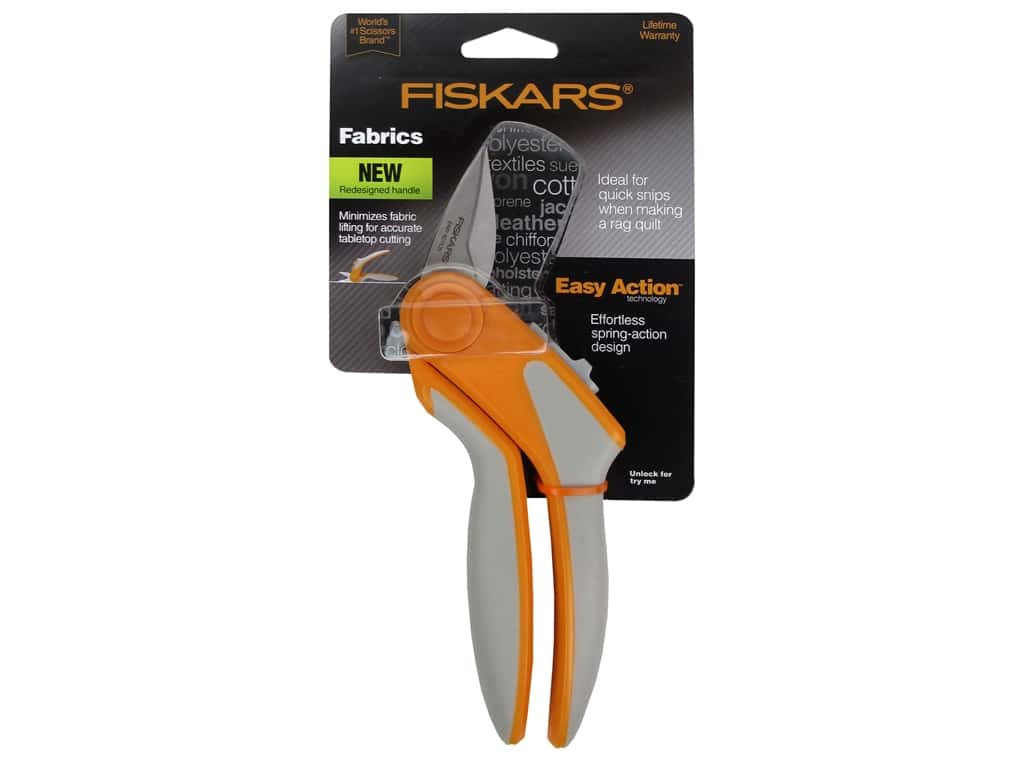 Fiskars 8 in. Easy Action Rag Quilt Snip for Tabletop Cutting