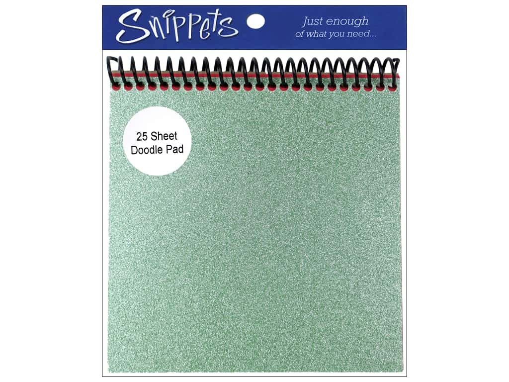 Doodle Pad by Paper Accents 6 x 6 in. Green Glitz/Red