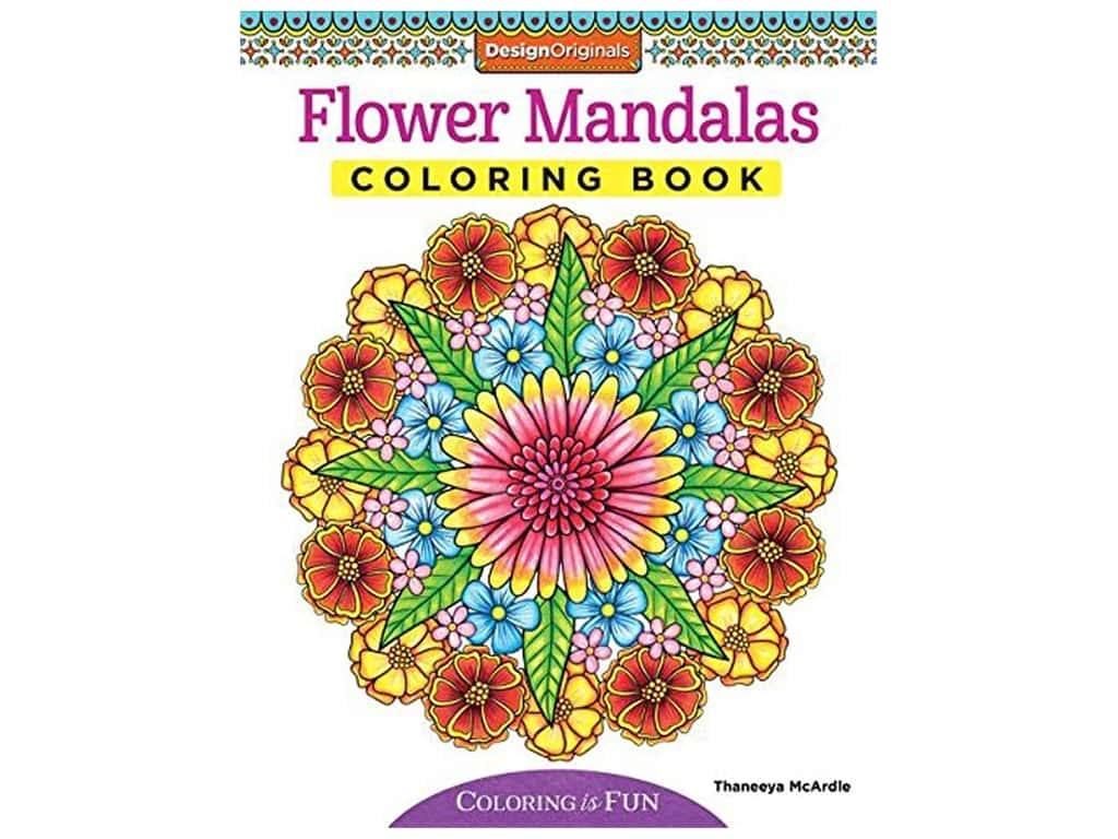 Design Originals Flower Mandalas Coloring Book