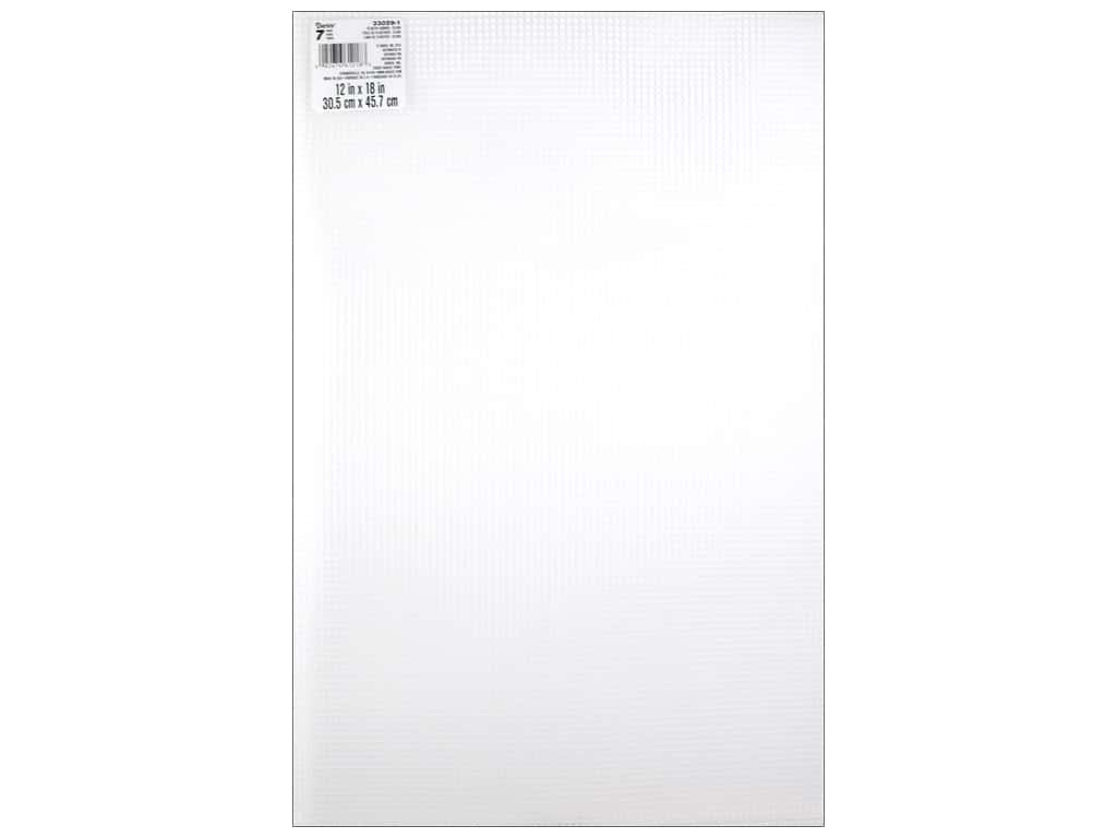 Darice Plastic Canvas #7 Mesh 12 x 18 in. Clear