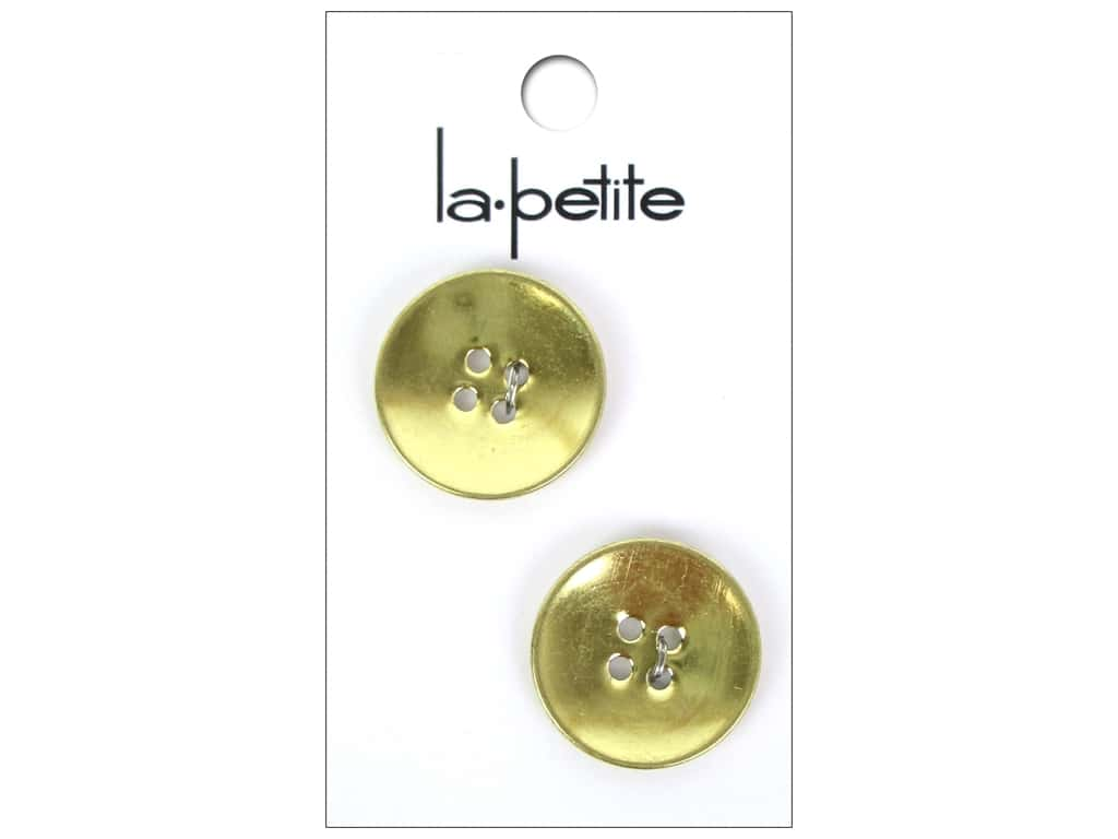 LaPetite 4 Hole Buttons 7/8 in. Satin Gold #2137 2 pc.