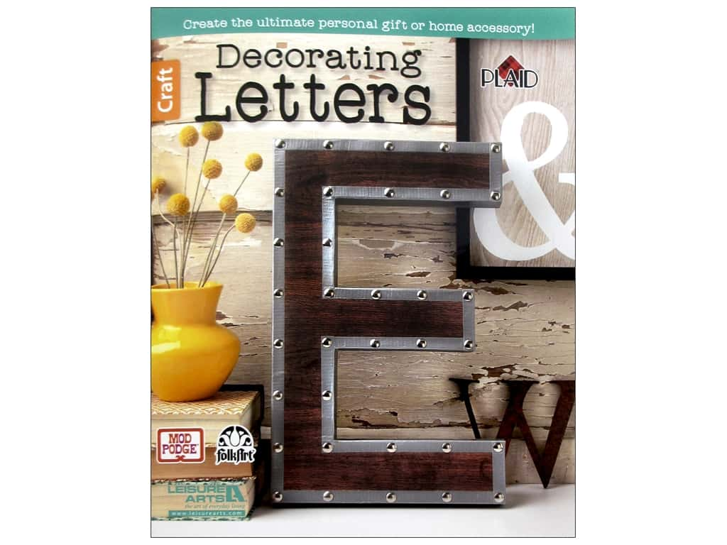 Decorating Letters Book by Leisure Arts