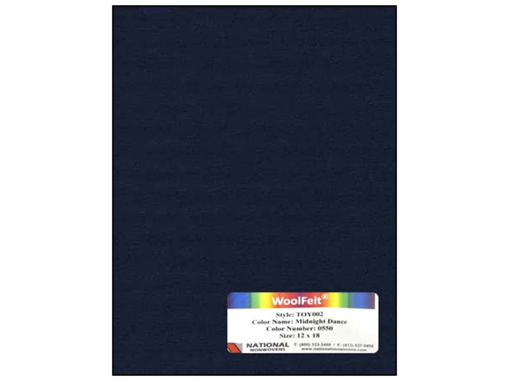 National Nonwovens 35% Wool Felt 12 x 18 in. Midnight Dance (10 sheets)