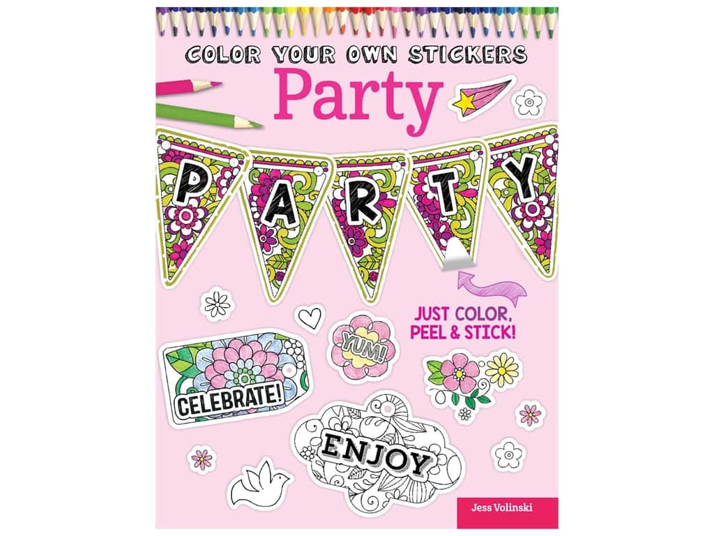 Design Originals Color Your Own Stickers Party Coloring Book
