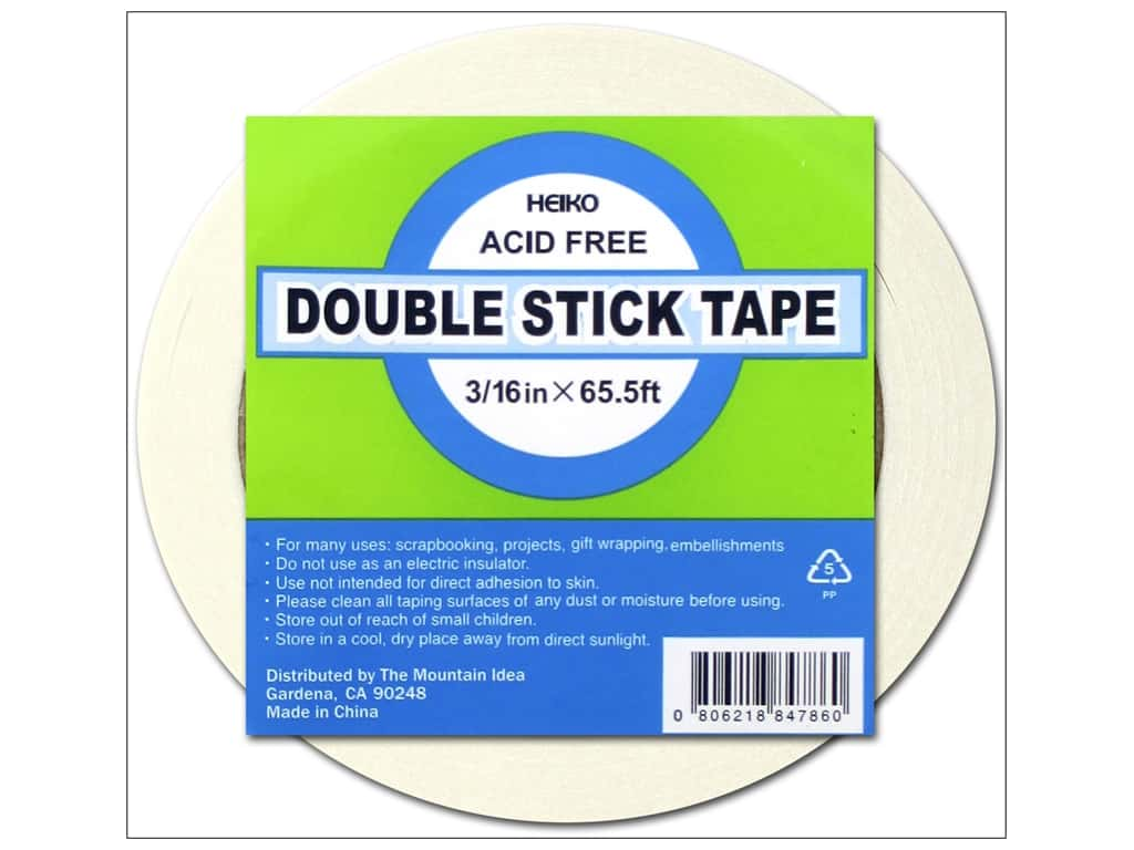Heiko Double Stick Tape 3/16 in. x 65 1/2 ft.