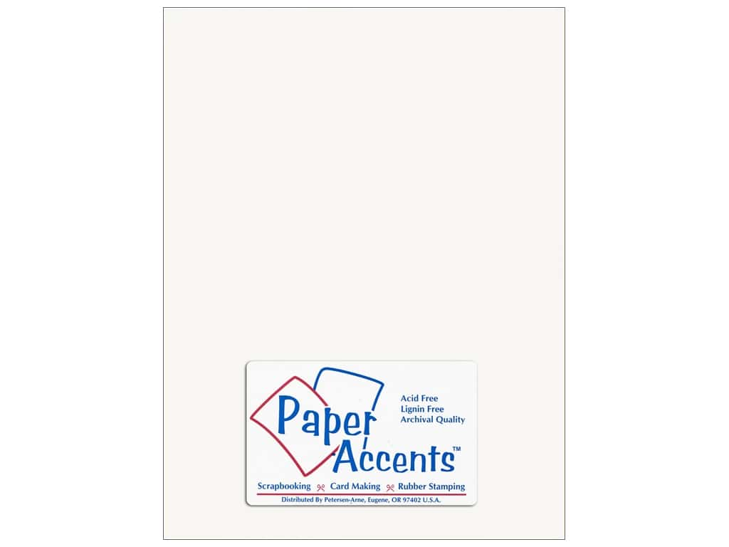 Paper Accents Cardstock 8 1/2 x 11 in. Glossy White  pc.