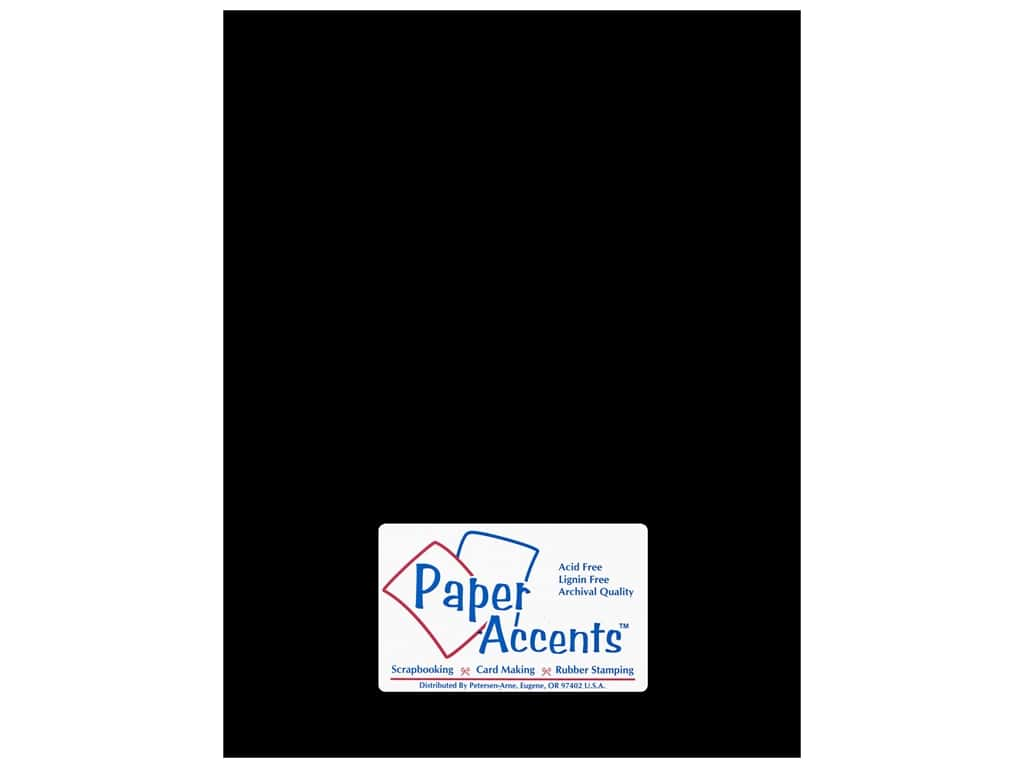 Paper Accents Cardstock 8 1/2 x 11 in. Glossy Black 25 pc.