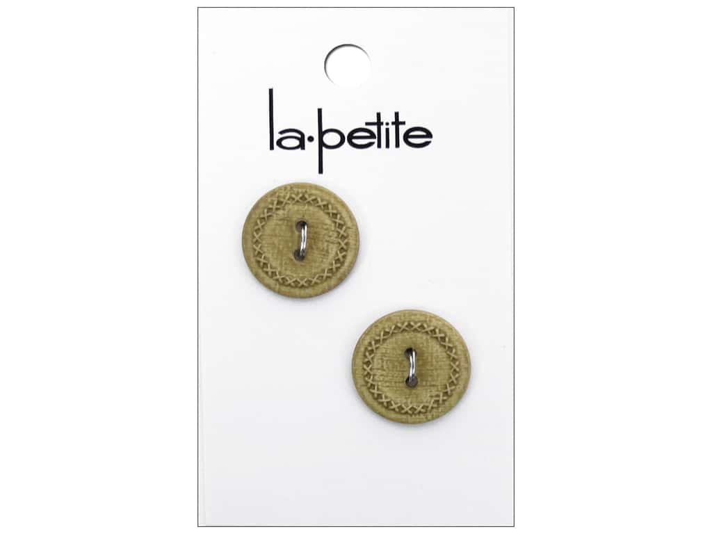 LaPetite 2 Hole Buttons 3/4 in. Tan #2090 2 pc.