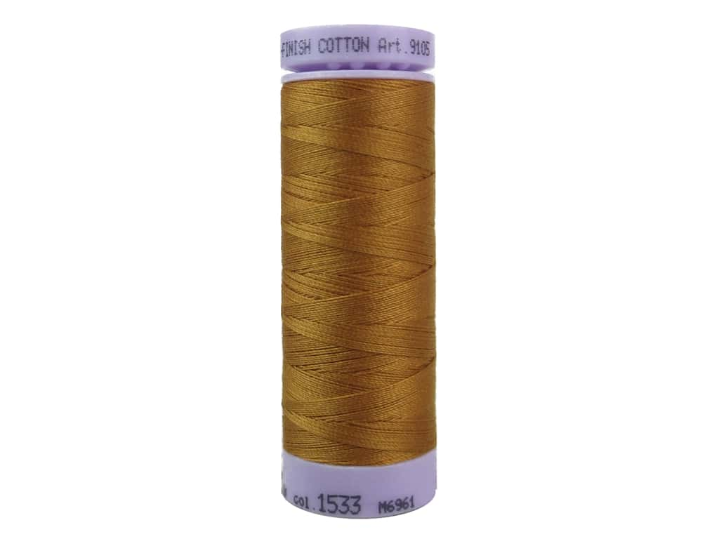 Mettler Silk Finish Cotton Thread 50 wt. 164 yd. #1533 Golden Oak