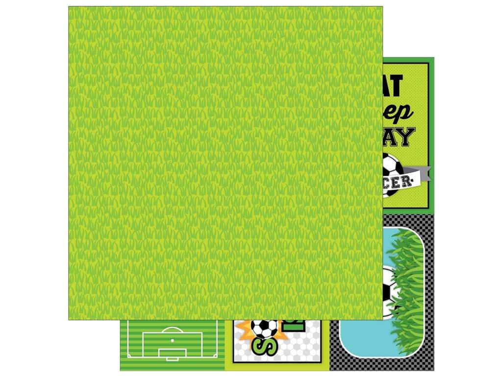 Doodlebug 12 x 12 in. Paper Goal Soccer Field (25 sheets)