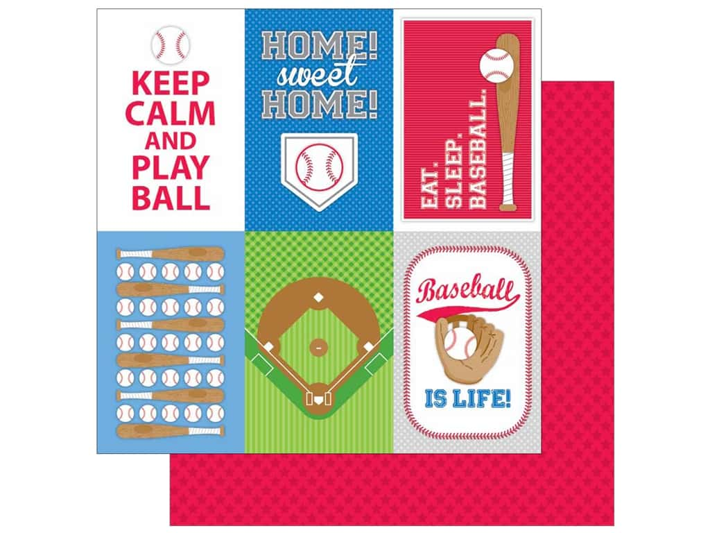 Doodlebug 12 x 12 in. Paper Home Run All Stars (25 sheets)
