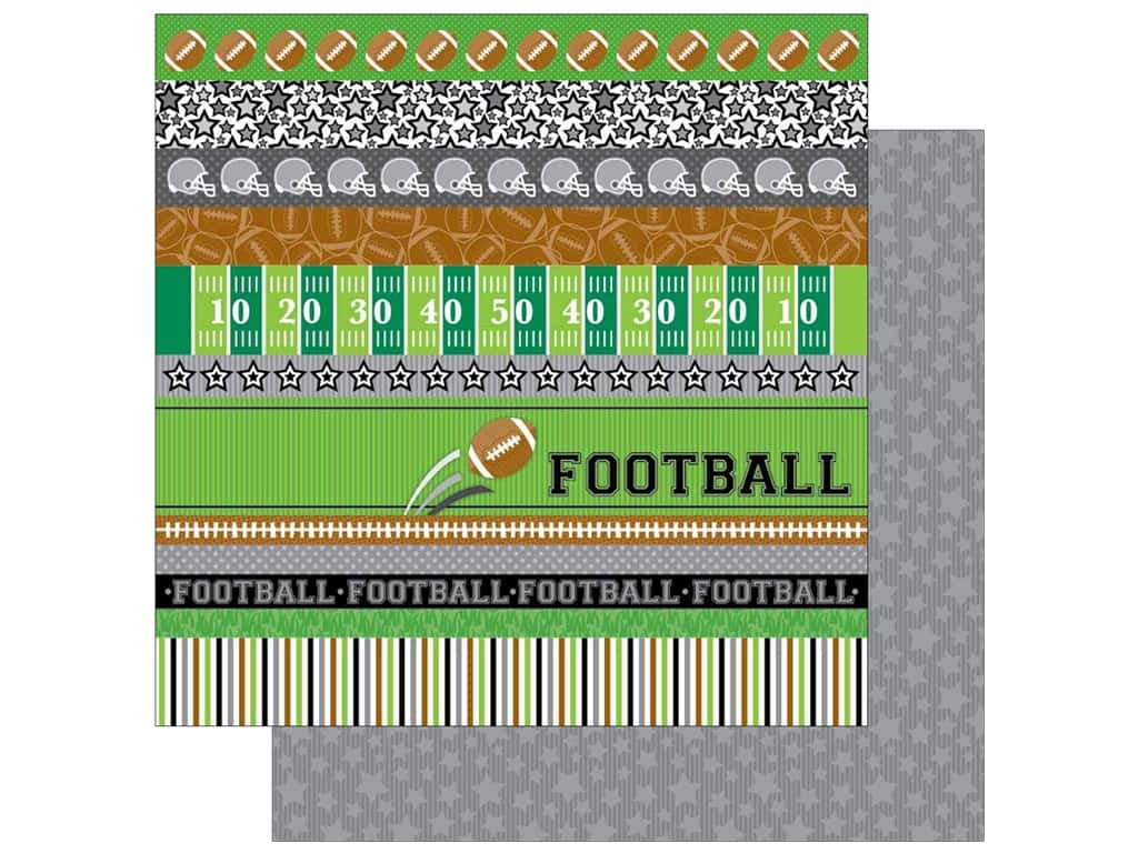 Doodlebug 12 x 12 in. Paper Touchdown Star Player (25 sheets)