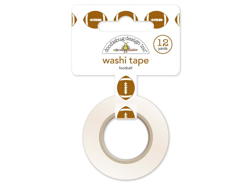 Doodlebug Washi Tape 5/8 in. x 12 yd. Touchdown Football