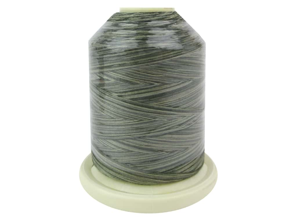 Signature 100% Cotton Thread 700 yd. #M86 Variegated Greyish Greens