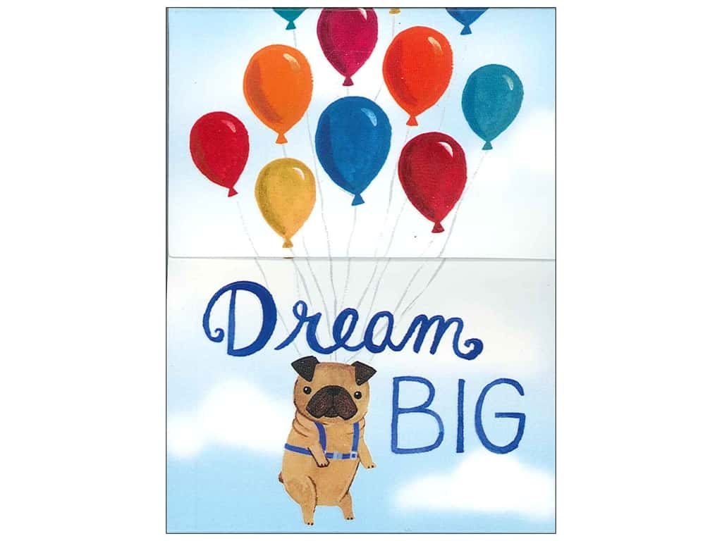 Molly & Rex Pocket Note Pad Dream Big Pug