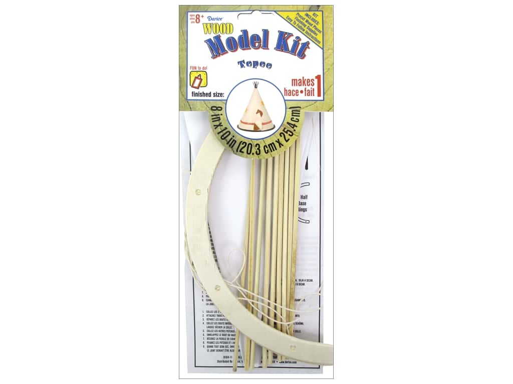 Darice Wood Model Kit Teepee 7 3/4 x 8 3/4 in.