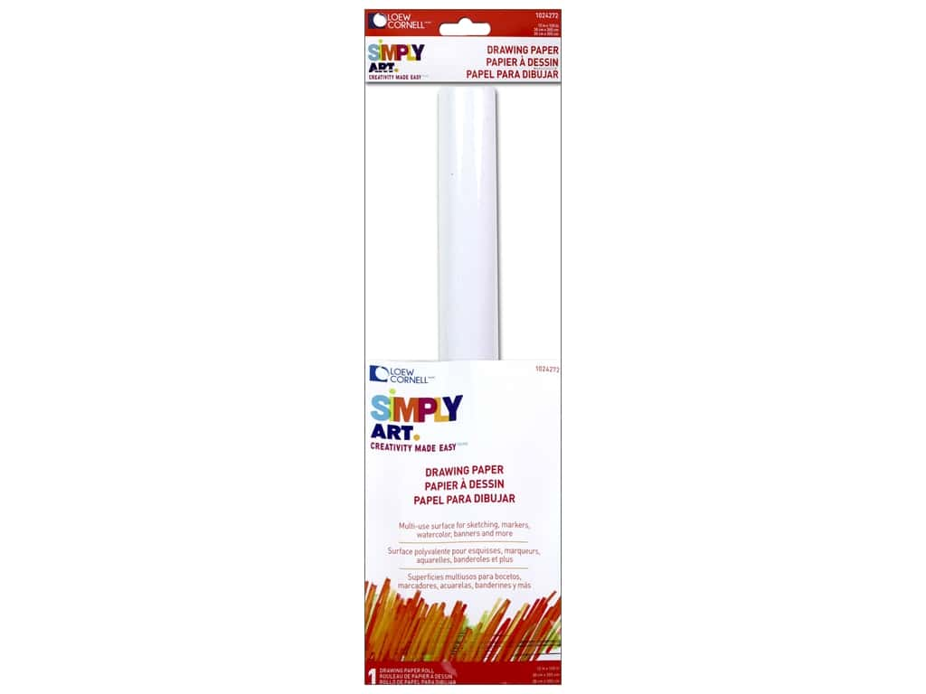 "Loew Cornell Simply Art Drawing Paper Roll 12""x 120"""