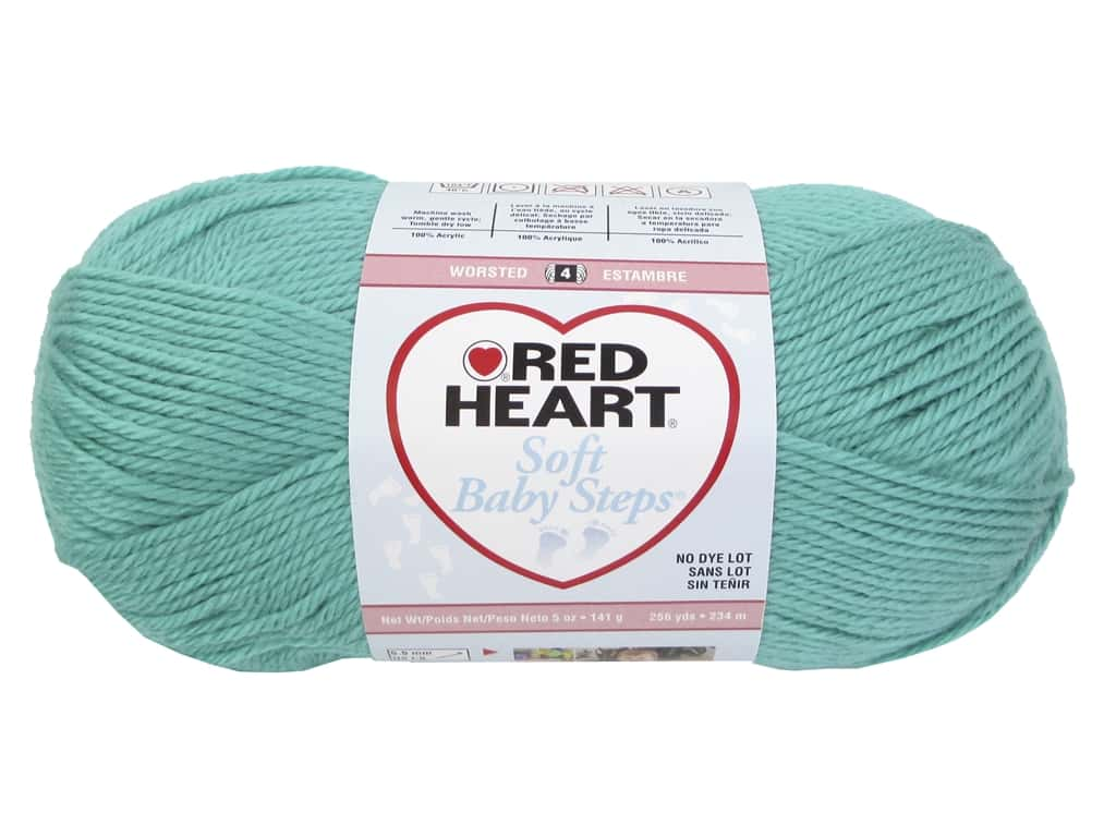 Red Heart Soft Baby Steps Yarn 256 yd. #9530 Jadie