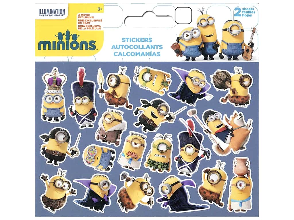 SandyLion Sticker Mini Foldover Universal Studios Minions Movie