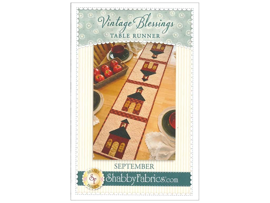 Shabby Fabrics Vintage Blessings September Table Runner Pattern
