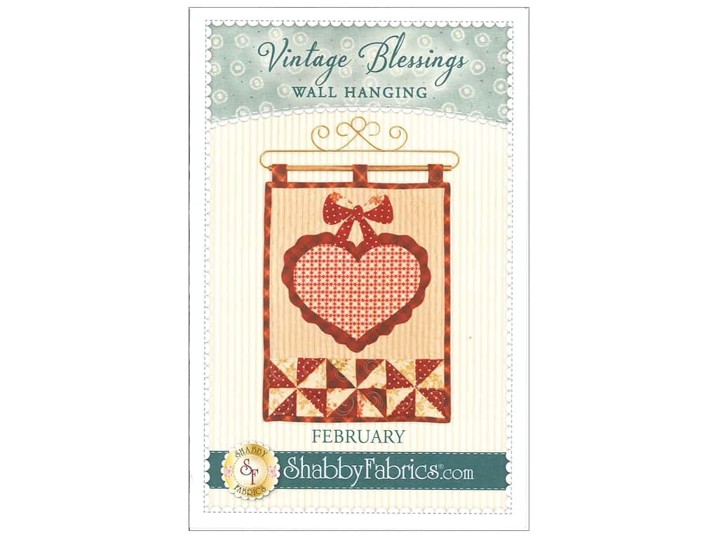 Shabby Fabrics Vintage Blessings February Wall Quilt Pattern