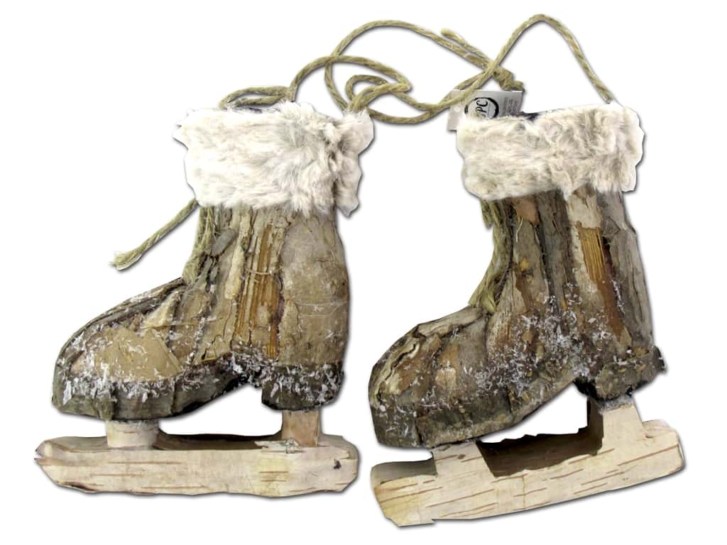 Sierra Pacific Crafts Skates Tied Together Light Brown