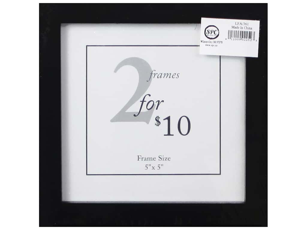 Sierra Pacific Frame Wood 5 in. x 5 in.  With Easel Black