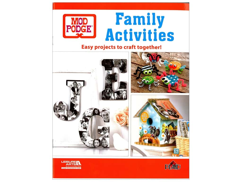 Leisure Arts Mod Podge Family Activities Book