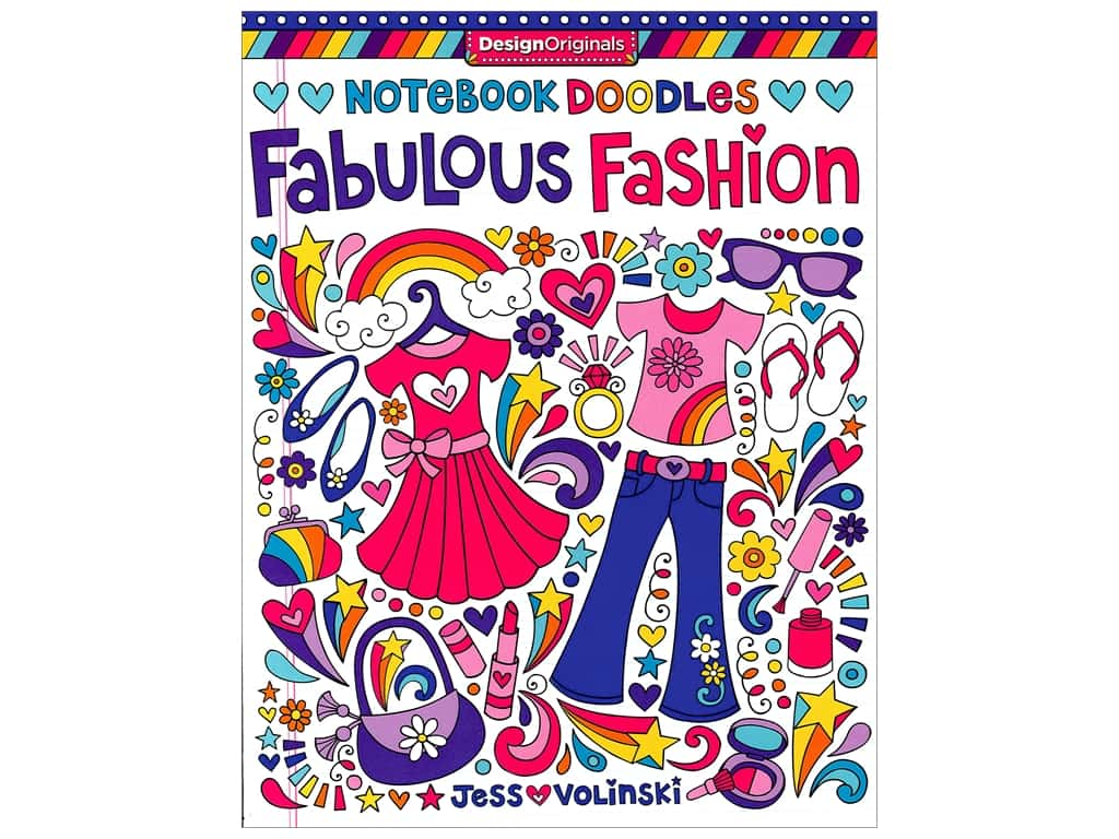 Design Originals Notebook Doodles Fabulous Fashion Book
